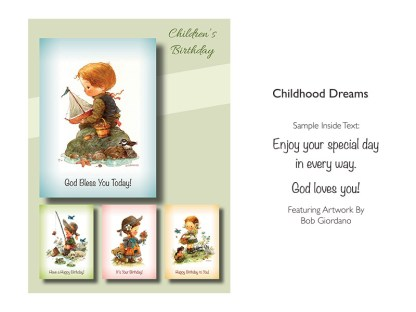 BOXED CARDS BIRTHDAY CHILDHOOD DREAMS