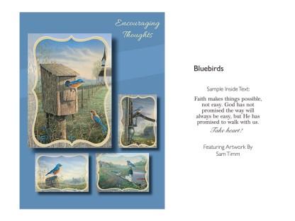 BOXED CARDS ENCOURAGEMENT BLUEBIRDS
