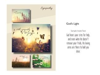 BOXED CARDS SYMPATHY GOD'S LIGHT