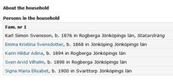 Carl Simon  Svensson census- DB - 1900