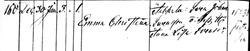 Emma Christina Svensdotter -  Birth Record - 12 30 1868 - Johnkoping Sofia - cropped