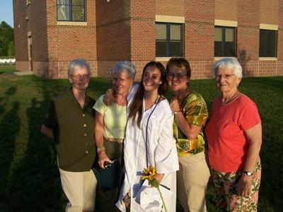 (L to R) Christine, Ingrid, Christina, Betty, Arlene