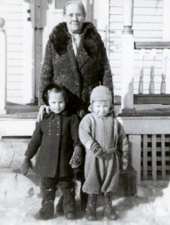 Grandma Mattson, Betty Anne and Freddie