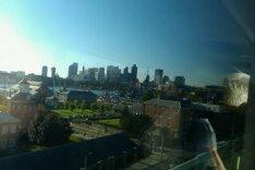 Boston skyline from the Tobin Bridge