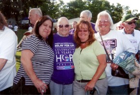 Gloria, Ed, Marjorie and Carolyn Walk for 'Relay for Life'