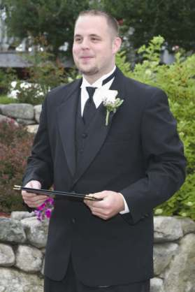 Barry on his Wedding Day