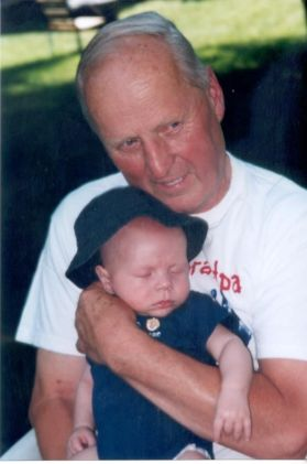Grandpa Phil and youngest grandson Braydon