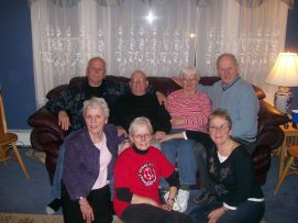 Jim, Ed, Arlene, Phil, Ingrid, Christine, Betty (2008 at Otter River)
