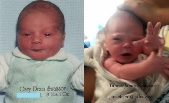 JR and TJ - at birth