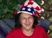z4 Tillie in my Uncle Sam hat - July 4th 2007