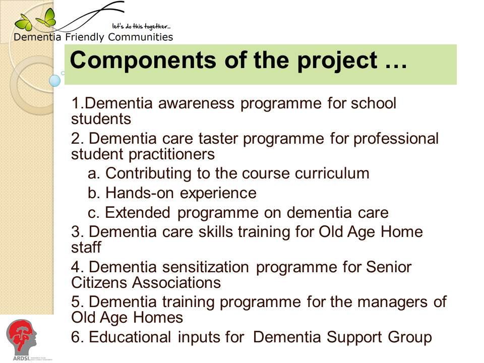 slide showing awareness project components