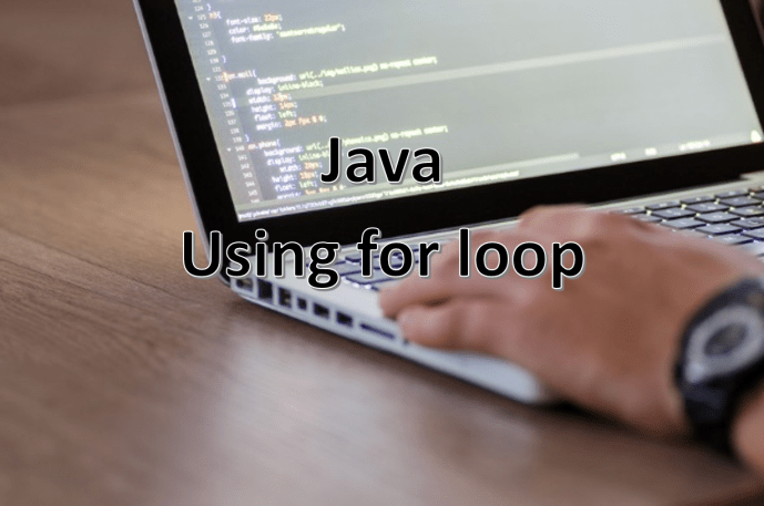 Using for loop in Java