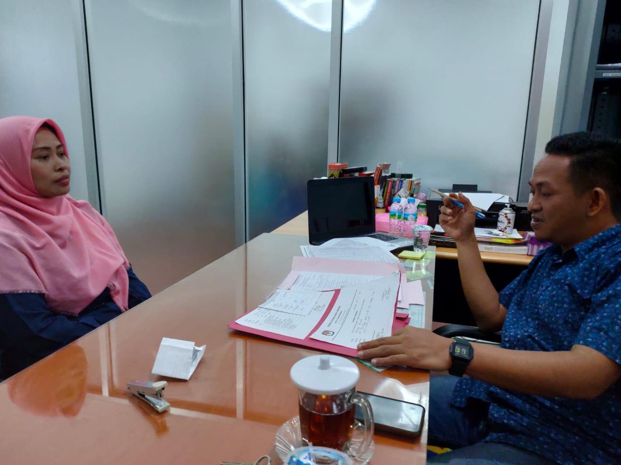 Teks: Najib saat tes wawancara PPK beberapa waktu lalu. Menyusul tes wawancara PPS.