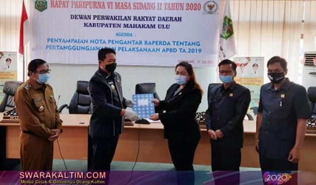 Laporan Keuangan Raih WTP, DPRD Mahulu Paripurna Raperda APBD TA 2019