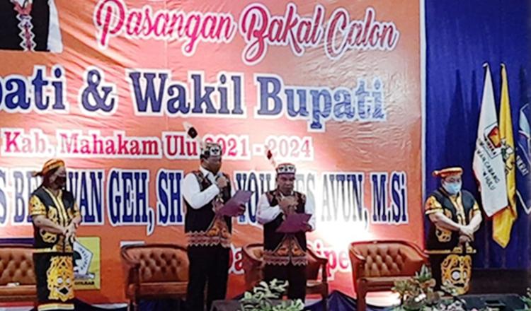 Resmi Didukung Tiga Parpol, Boni-Avun Siap Berkompetisi di Pilkada Mahulu