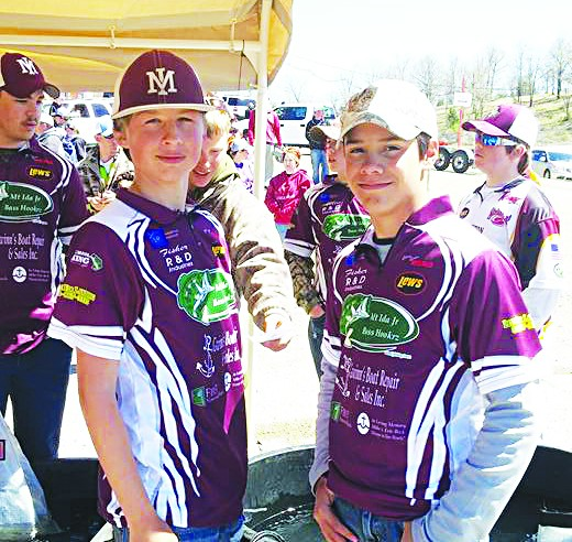 """Team Fisher"", otherwise known as Fisher Bissell and Fisher Davis, finished in 6th place in the junior high division at the ""Seige on Bull Shoals"" tournament Saturday. They are in position to finish the season as the top junior high anglers in the state. Photo by Rochelle Bissell"
