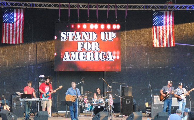 The Pike County band Billstown, comprised of members of Glen Campbell's family, performs during Stand Up for America.