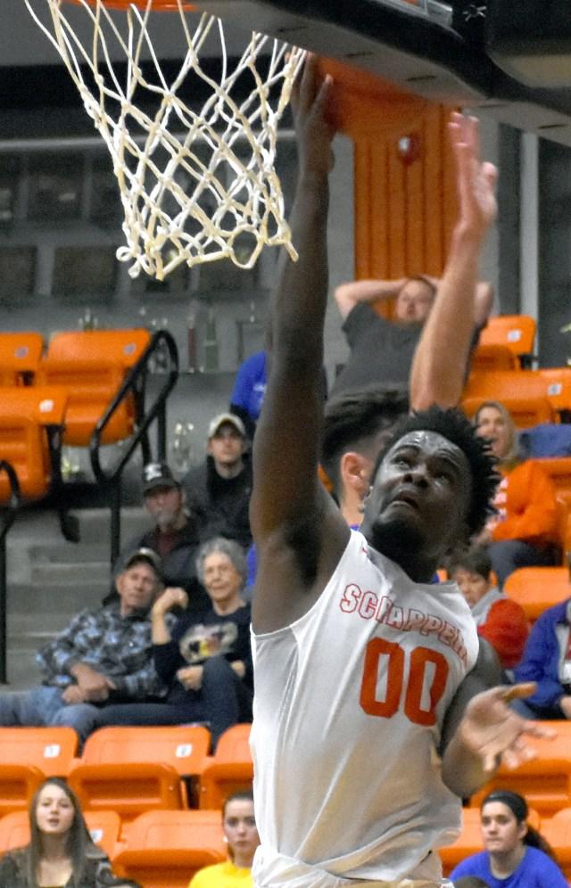 Darius Hopkins scores against Caddo Hills.