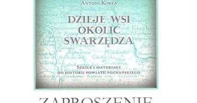 Zaproszenie na promocję książki Antoniego Kobzy