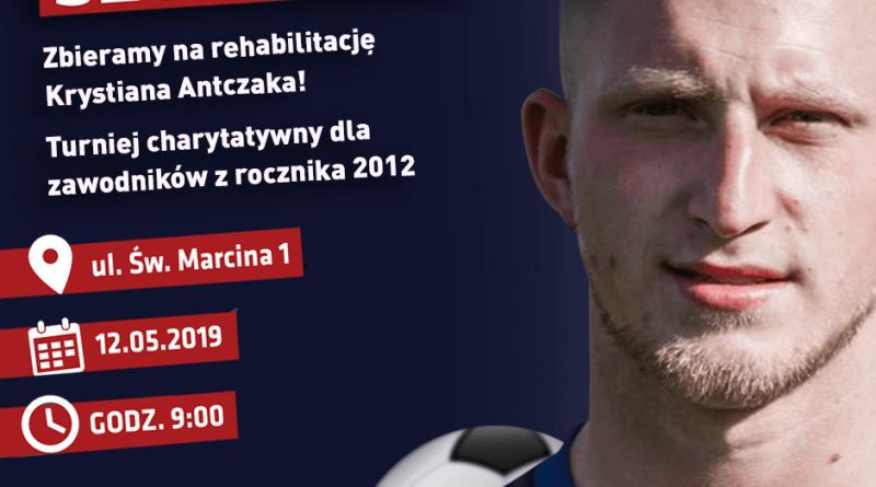 """Zapraszamy 12 maja na """"Szyba Cup"""" – zagrają dla Krystiana Antczaka"""