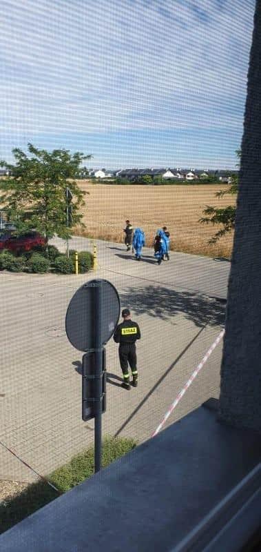 ewakuacja bloku Zamoyskiego w Zalasewie