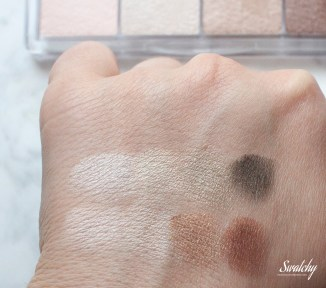 Quick swatch on top of nothing. They're all creamy.
