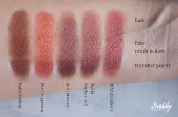 Nabla - Ludwig, MAC - Coppering, MAC - Maroon (pigment), Nabla - Daphne no 2, MAC - Cranberry