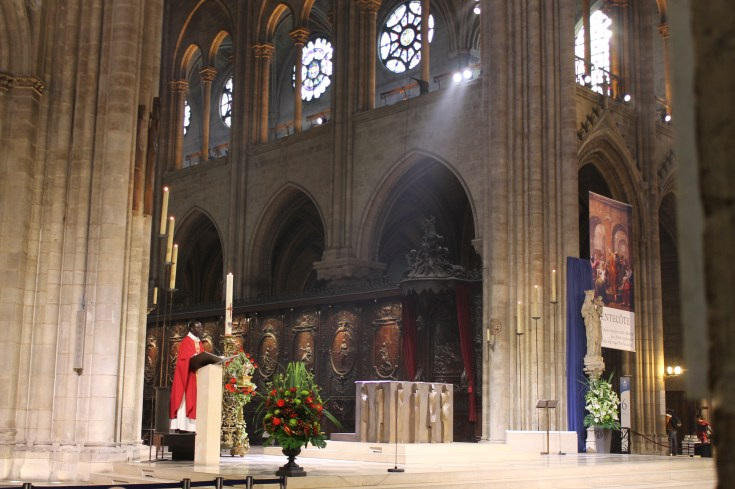 The altar at Notre Dame