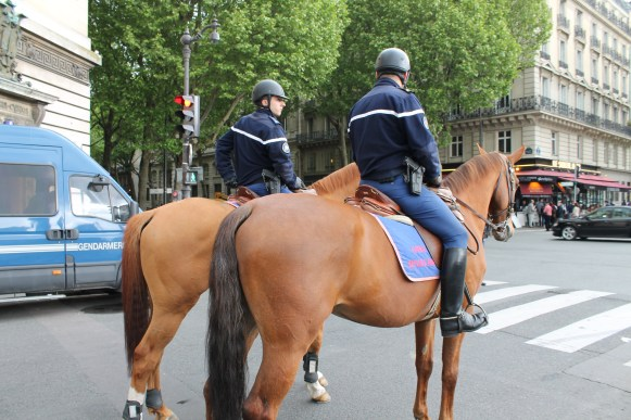 Policemen, always on horses