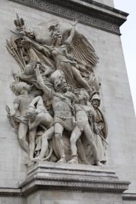 Artwork on the Arc De Triomphe