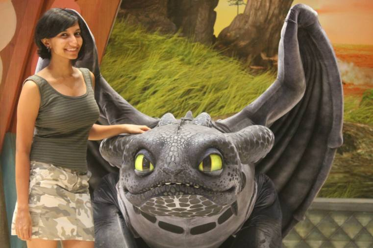 This is me effortlessly taming Toothless, from How to Train Your Dragon. I must be the next Dragon King or whatever