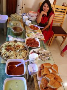 Swati Sani with Dawat Spread on Eid