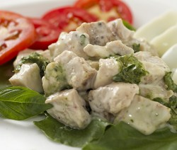 Baked basil chicken salad