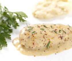 Velvet Chicken breast in mustard sauce