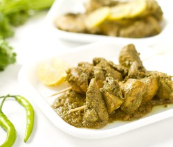 Chicken with mint and coriander: Chutney chicken