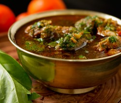 Palak Gosht - Meat cooked with Spinach