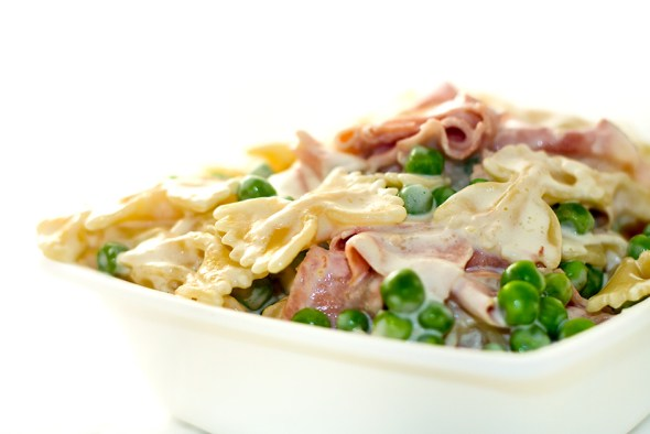 Pasta with Ham and Peas