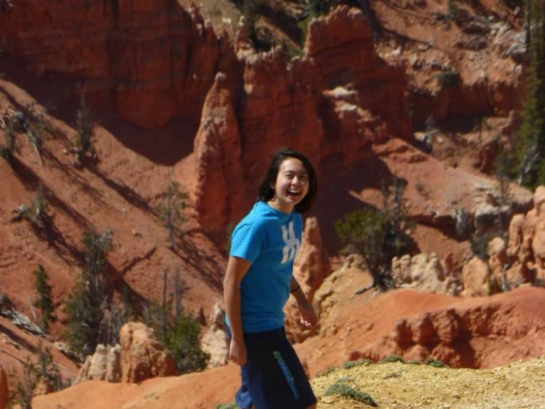 Me casually galavanting through a canyon, like I do.