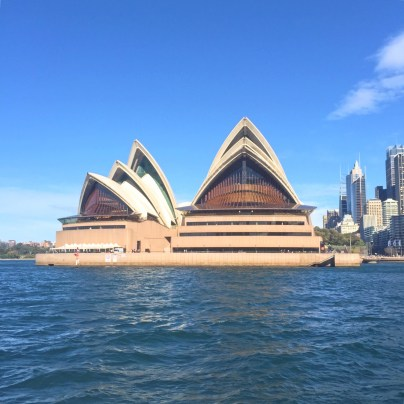 The view of the magnificent Sydney Opera House on one of Sydney's many inexpensive ferries.