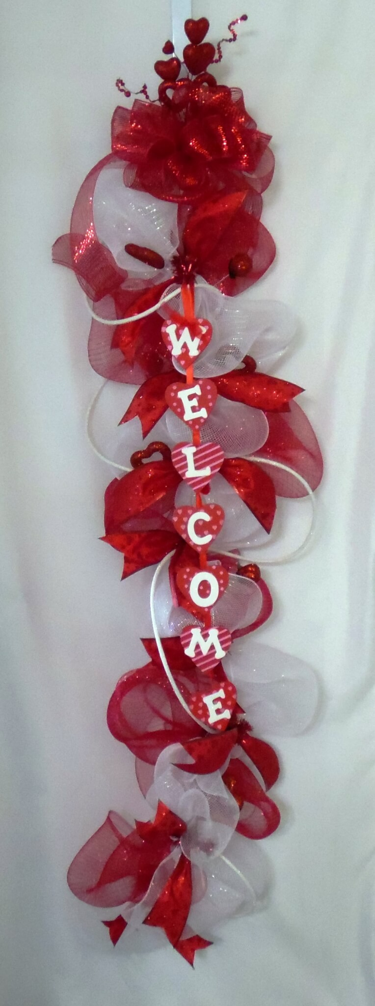 Valentines Day Welcome Door Swag Wreaths Garland