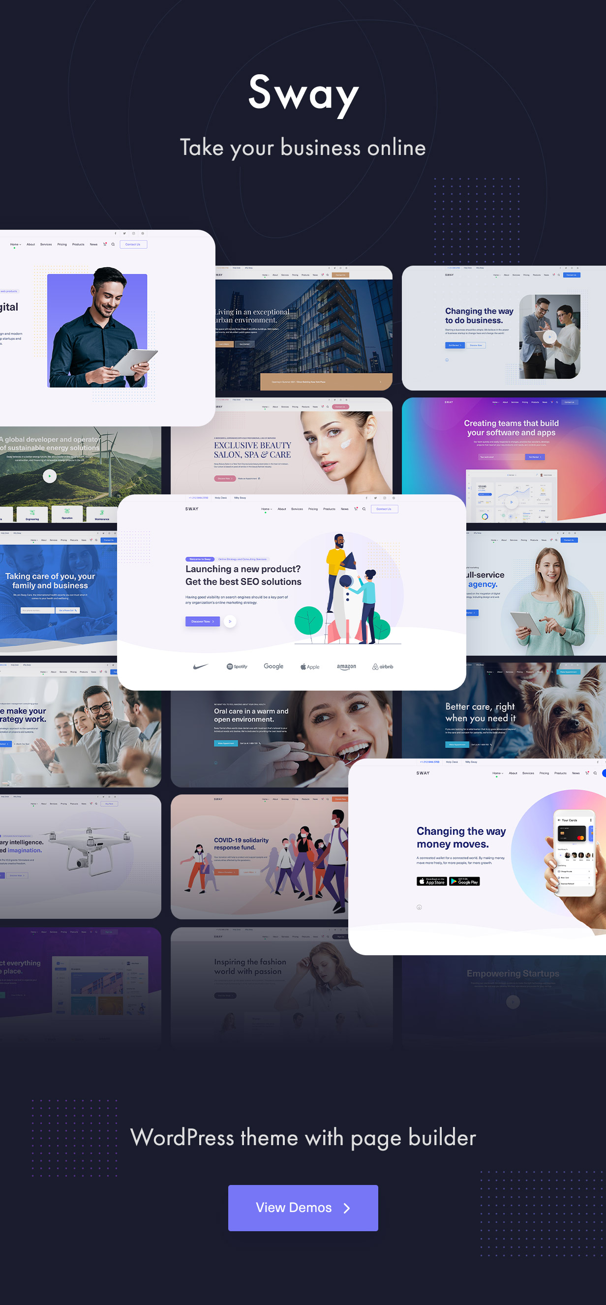Sway - Multi-Purpose WordPress Theme with Page Builder - 6