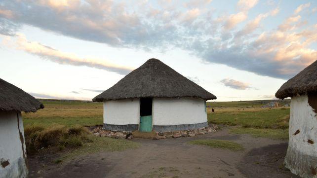 Traditional rondavel homestead in Pondoland