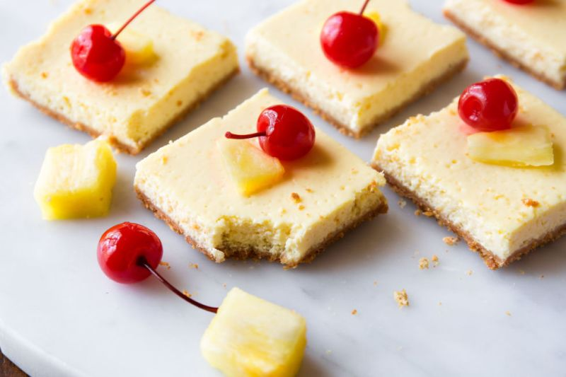 SWEAT by SlimClip Case gallery-1452804220-delish-skinny-pineapple-cheesecake-bars-3-800x533 Kim Olsen Top Five healthy meals for fitness