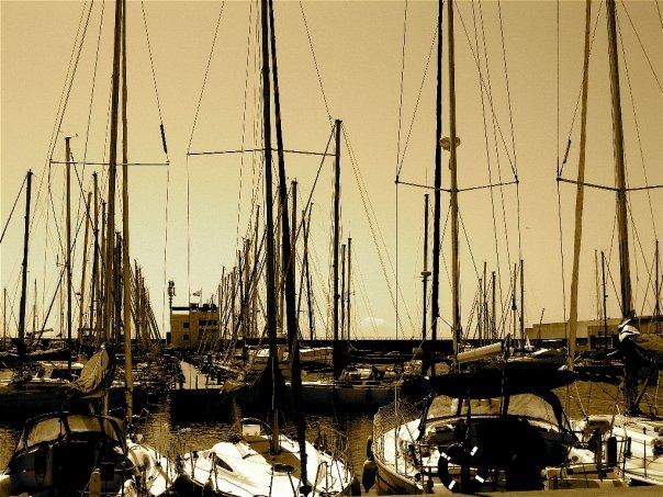 Boats in Barceloneta
