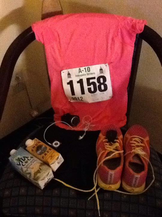 My running stuff! Newton shoes and Lululemon!