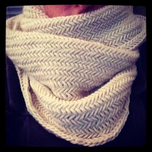 my latest Chunky Knit!  Hand knit by me.
