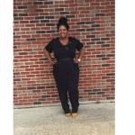 Black with a Pop.. featuring Eloquii Jumpsuit