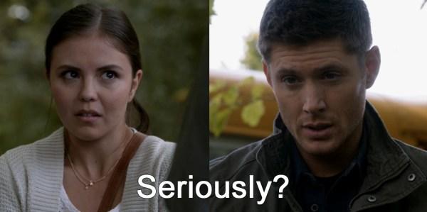 Supernatural Heaven Can't Wait Dean talking to girl