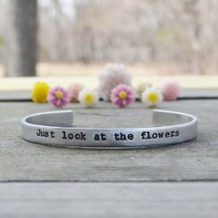 Walking Dead Just Look At The Flowers bracelet