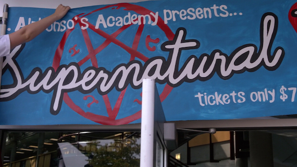 5 Supernatural Season Ten Episode Five SPN S10E5 Fan Fiction Banner Devils Trap 200th Episode